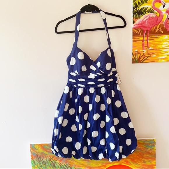 JESSICA SIMPSON Marilyn Retro Bubble Halter Dress